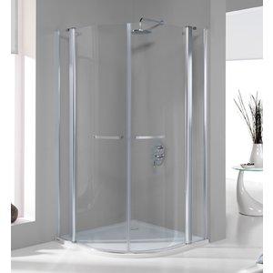 Duschhörn Halvrunt (förlängt) Prestige III - 6mm glas(in- & utåtgående dörrar)