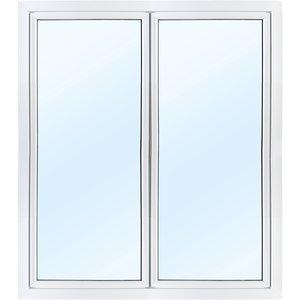 Parfönsterdörr 3-glas - Utåtgående - PVC - U-värde 0