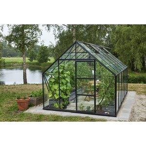 Växthus Universal - Svart med härdat glas 9